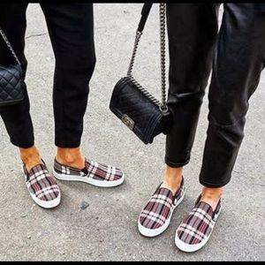 Celine Paris Plaid Plimsolls
